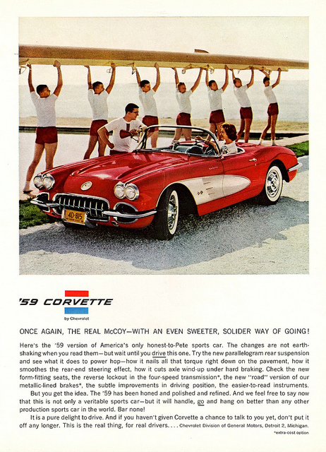 Vintage Corvette Ads From The 1950s