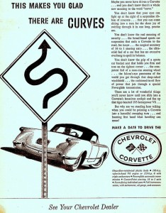 This Makes You Glad There are Curves Ad from 1955