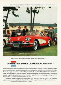 Corvette Does America Proud Ad from 1958