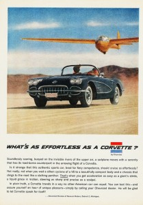 What's as Effortless as a Corvette Ad from 1958