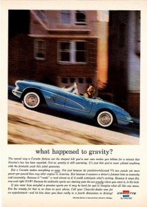 What Happened to Gravity? ad from 1960