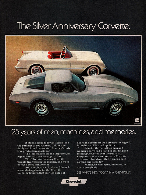 Vintage Corvette Ads From The 1970s