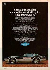 1978 Corvette Ad