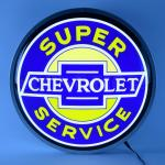 SUPER CHEVY SERVICE (BACKLIT ROUND SIGN)