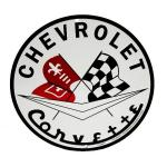 METAL CORVETTE LOGO CIRCULAR SIGN