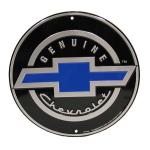 METAL GENUINE CHEVROLET LOGO CIRCULAR SIGN