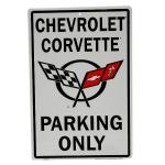 CHEVROLET CORVETTE PARKING ONLY SIGN