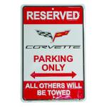 RESERVED - CORVETTE PARKING ONLY SIGN