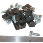 63-67 ROCKER PANEL RETAINER SCREW SET W/NUTS