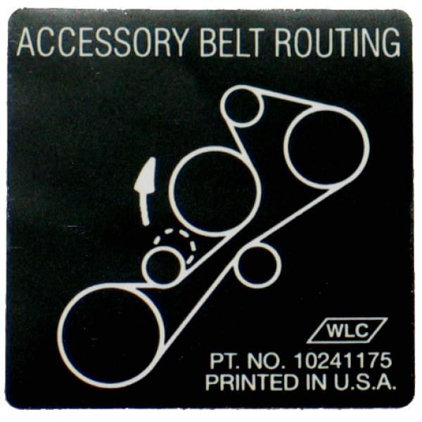 93-95 BELT ROUTING DECAL (LT1)