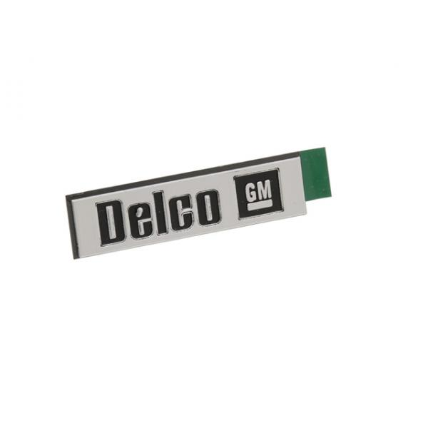 84-96 SPEAKER GRILL NAME PLATE DELCO-GM