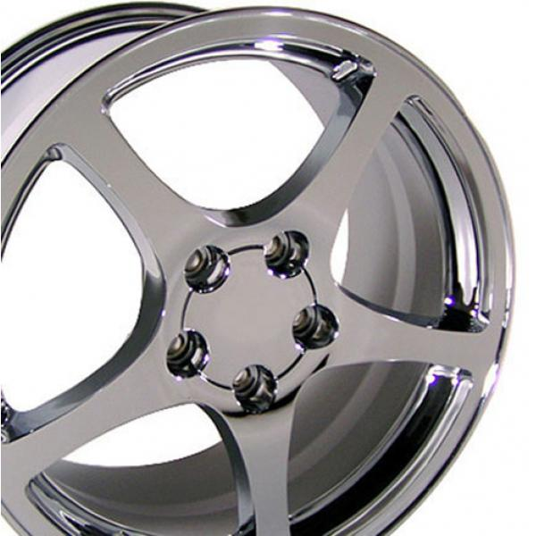 97-04 WHEEL (C5 STYLE) CHROME. 17X8.5