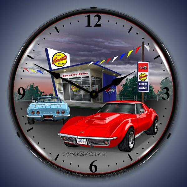 1968 CORVETTE LIGHTED WALL CLOCK