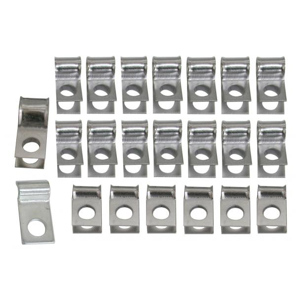69-70E BRAKE & FUEL LINE CLIP SET (HOLLEY)