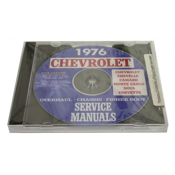 76 OVERHAUL, CHASSIS & FISHER BODY MANUALS (CD)