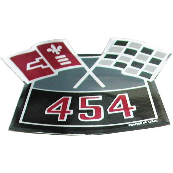 70 AIR CLEANER DECAL 454 CROSSFLAGS