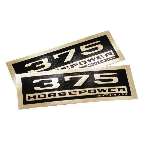 64-65 VALVE COVER DECALS - 375 HP