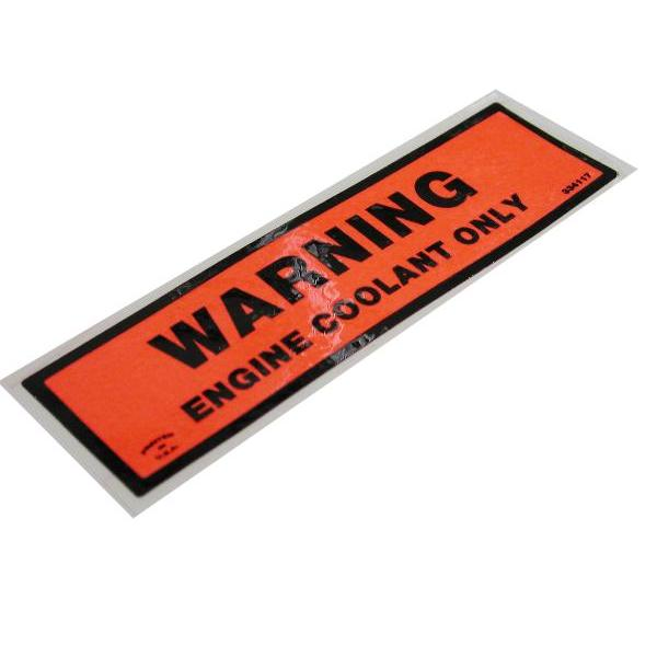 73-77 COOLANT WARNING DECAL
