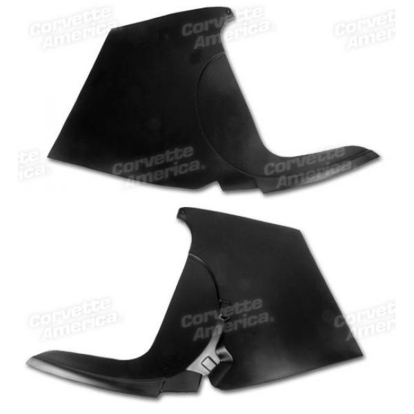 59-62 CORVETTE KICK PANELS (BLACK)