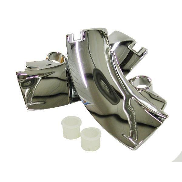 69-76 WINDSHIELD TOP CORNER MOLDINGS (PAIR)