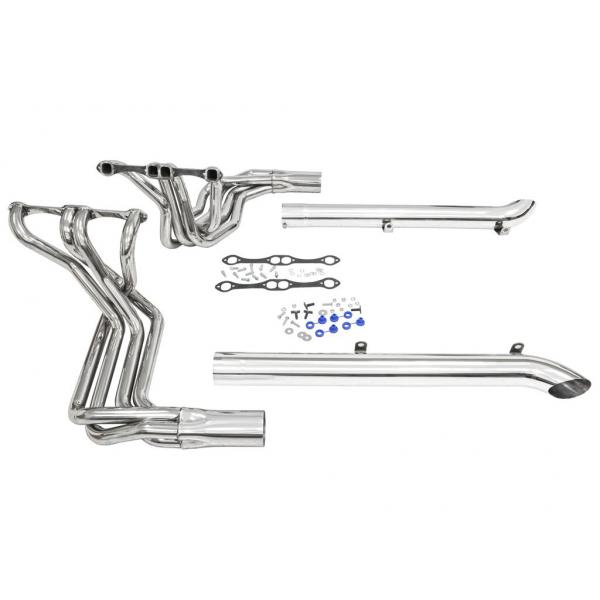 65-74 CORVETTE SIDE EXHAUST WITH HEADERS (CHROME)